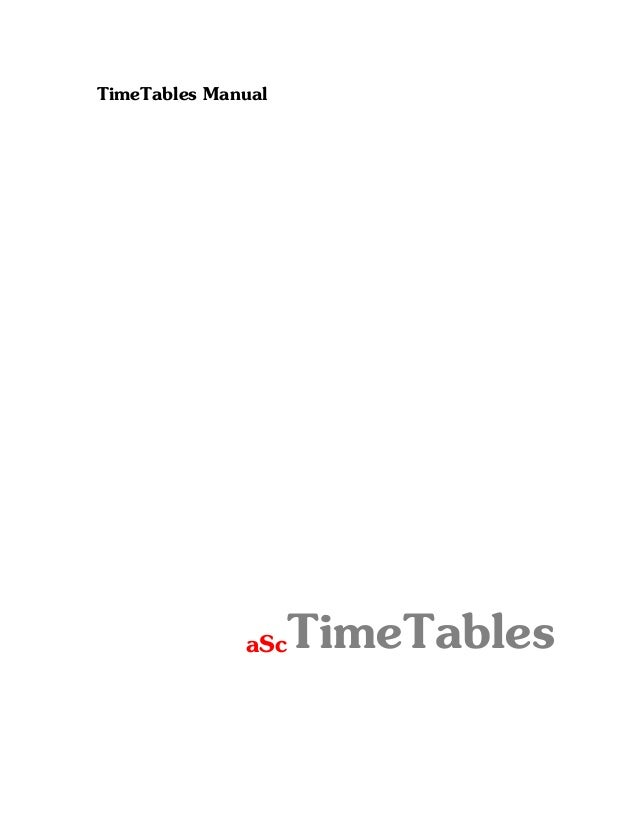 A sc time tables manual english-  rmi project syndication - www.rmi-nu.or.id