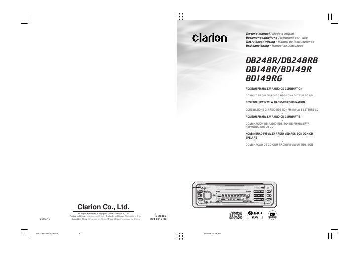 Owner's manual / Mode d'emploi Bedienungsanleitung / Istruzioni per l'uso Gebruiksaanwijzing / Manual de instrucciones Bru...