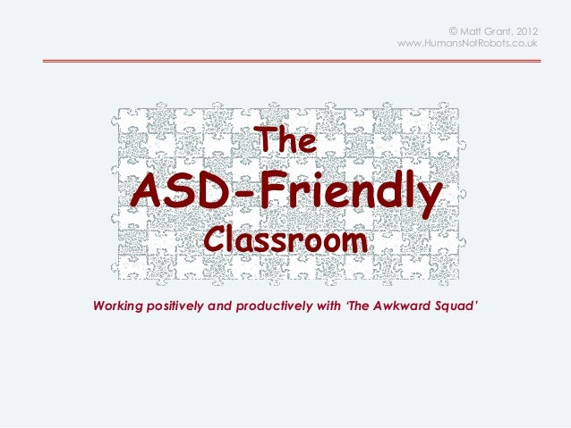 Autism / ASD Friendly Classrooms