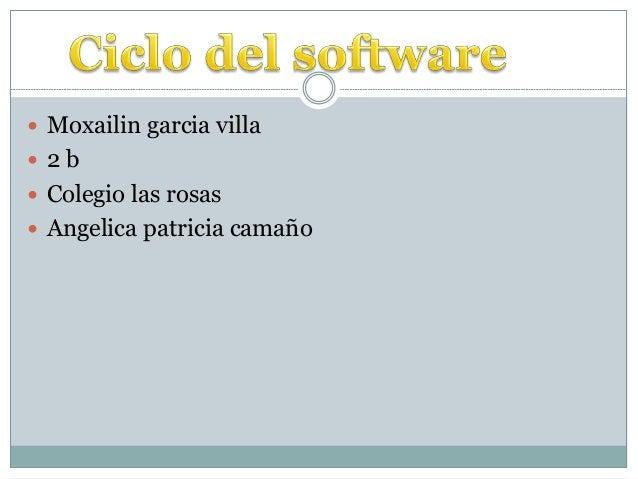  Moxailin garcia villa  2 b  Colegio las rosas  Angelica patricia camaño