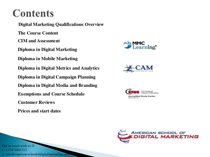 Digital Marketing Qualifications Overview          The Course Content          CIM and Assessment          Diploma in Digi...