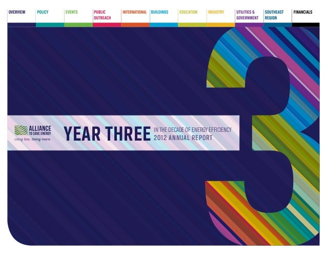 Year THREE  in the decade of energy efficiency  2012 annual report