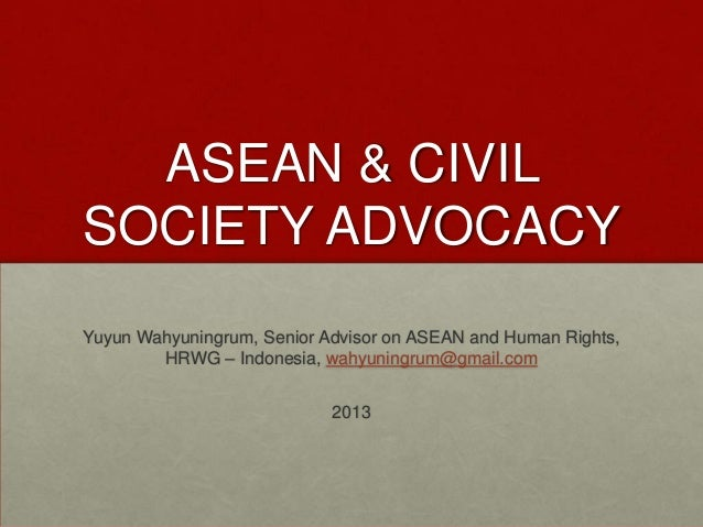 Civil Society Engagement in ASEAN (Yuyun Wahyuningrum)