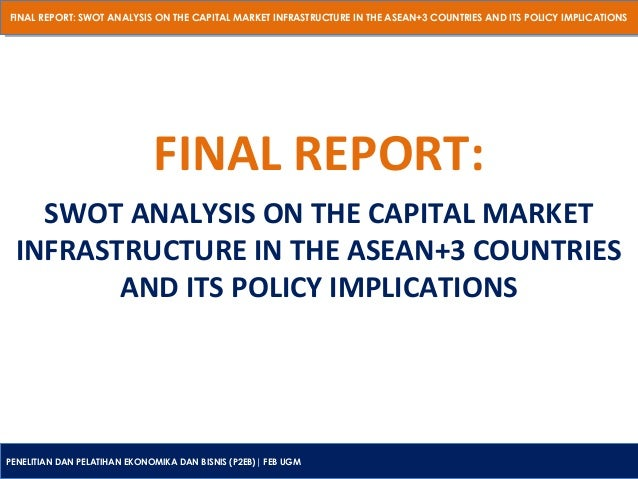 FINAL REPORT: SWOT ANALYSIS ON THE CAPITAL MARKET INFRASTRUCTURE IN THE ASEAN+3 COUNTRIES AND ITS POLICY IMPLICATIONS FINA...