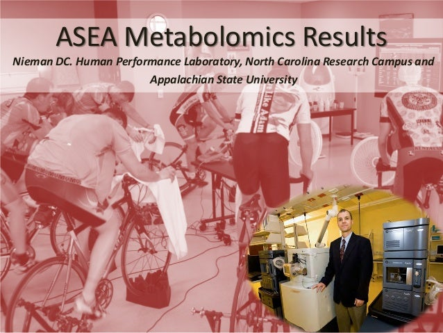 ASEA Metabolomics Results  Nieman DC. Human Performance Laboratory, North Carolina Research Campus and Appalachian State U...