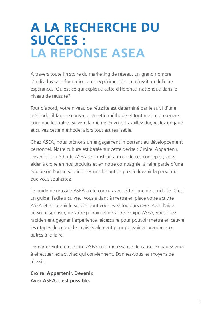Asea success guide_france_jul2012
