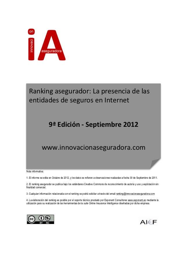 Aseguradoras presencia septiembre 2012