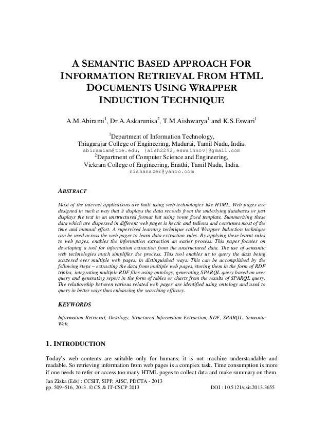 Jan Zizka (Eds) : CCSIT, SIPP, AISC, PDCTA - 2013 pp. 509–516, 2013. © CS & IT-CSCP 2013 DOI : 10.5121/csit.2013.3655 A SE...