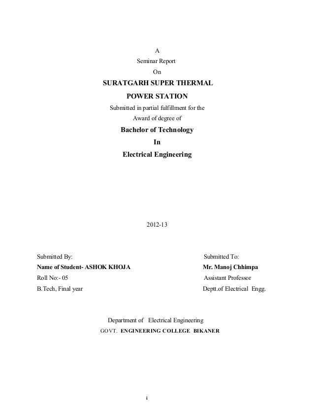 A                                  Seminar Report                                          On                     SURATGAR...