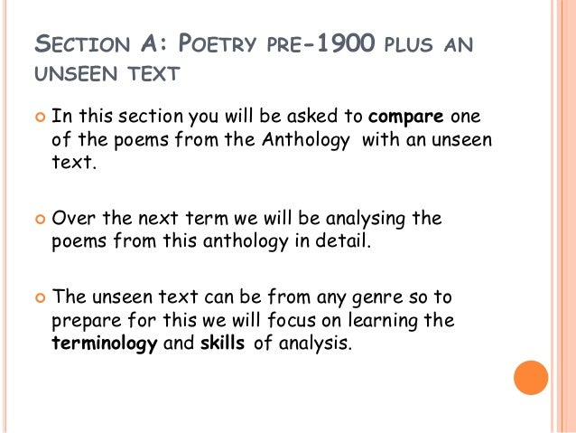 english literature commentary coursework