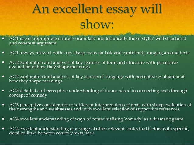Is it ok to use comedy on an essay?