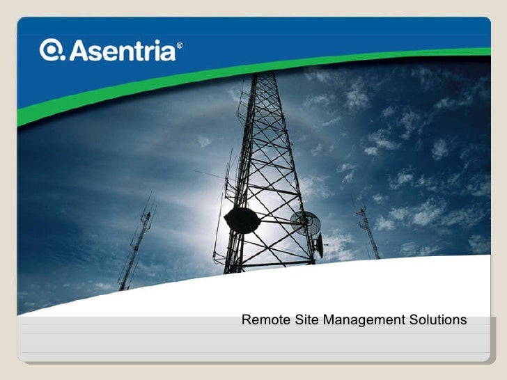 Remote BTS Monitoring Solutions