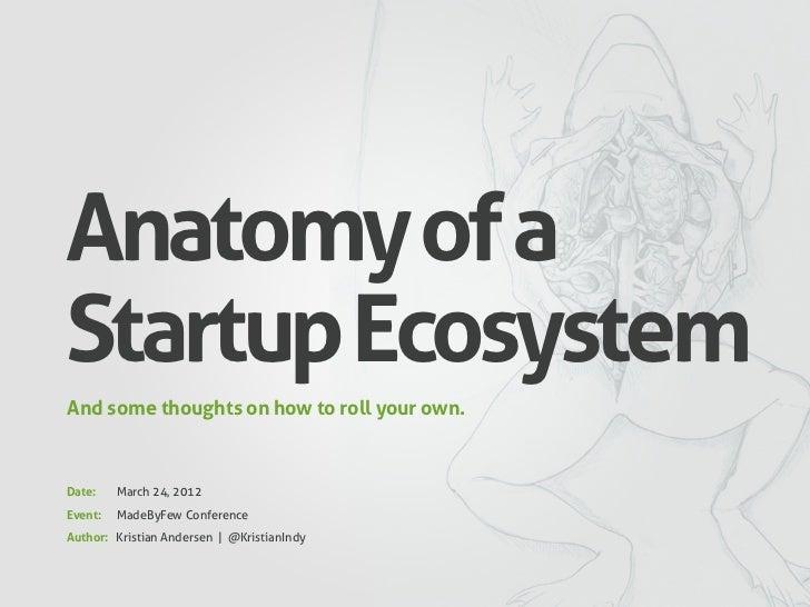 Anatomy of a Startup Ecosystem