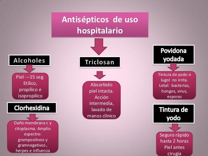 clasificacion de antisepticos y desinfectantes pdf