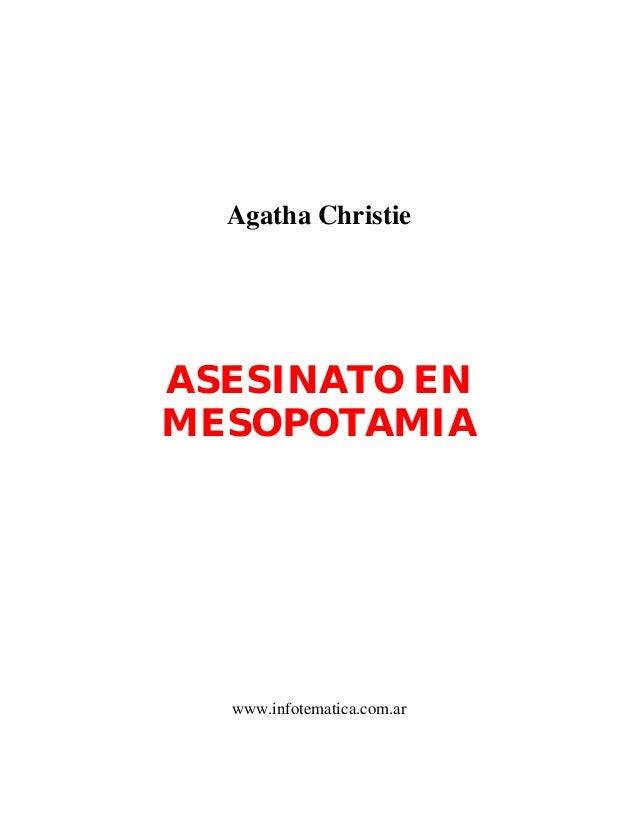 Agatha ChristieASESINATO ENMESOPOTAMIAwww.infotematica.com.ar