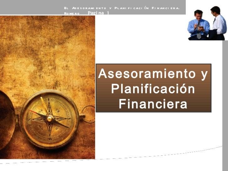 Asesoramiento y planificación financiera efpa