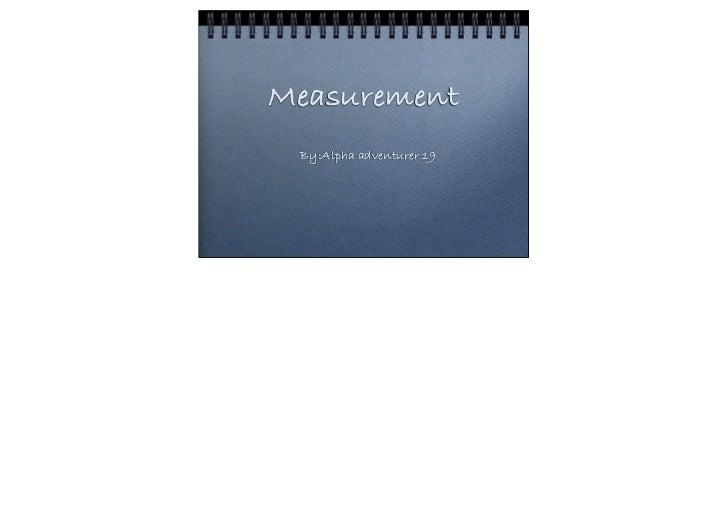 Asessment mesurement
