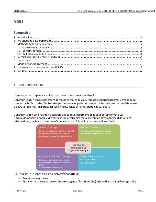 Méthodologie Asfa-mthodologie-agile-23042014-frv1-150309123953-conversion-gate01 Frédéric Sagez Page 1sur 7 ASFA AGILE Som...