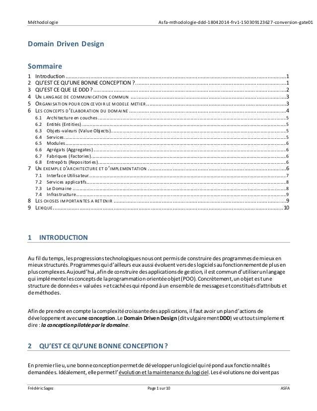 Méthodologie Asfa-mthodologie-ddd-18042014-frv1-150309123627-conversion-gate01 Frédéric Sagez Page 1sur 10 ASFA Domain Dri...