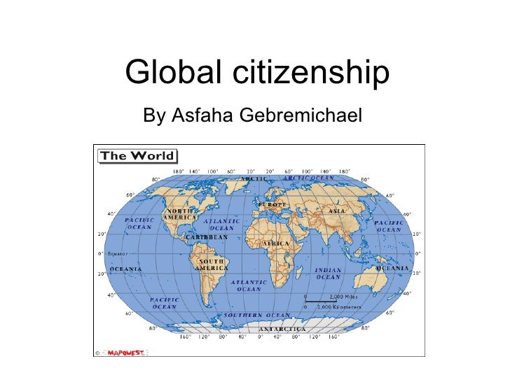 Global citizenship By Asfaha Gebremichael
