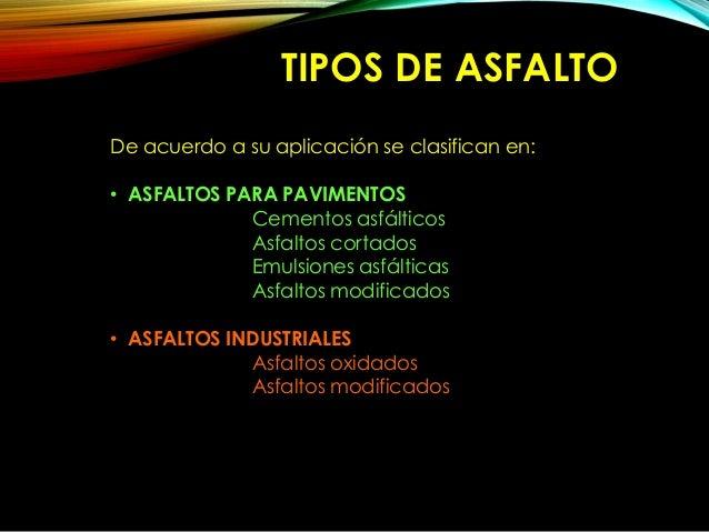 Asfalto - Clases de pavimentos ...