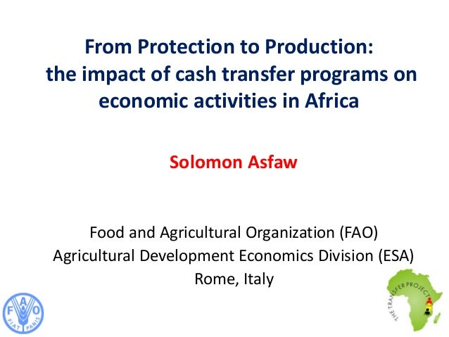 From Protection to Production: the impact of cash transfer programs on economic activities in Africa