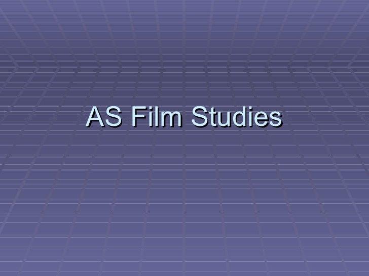 AS Film Studies