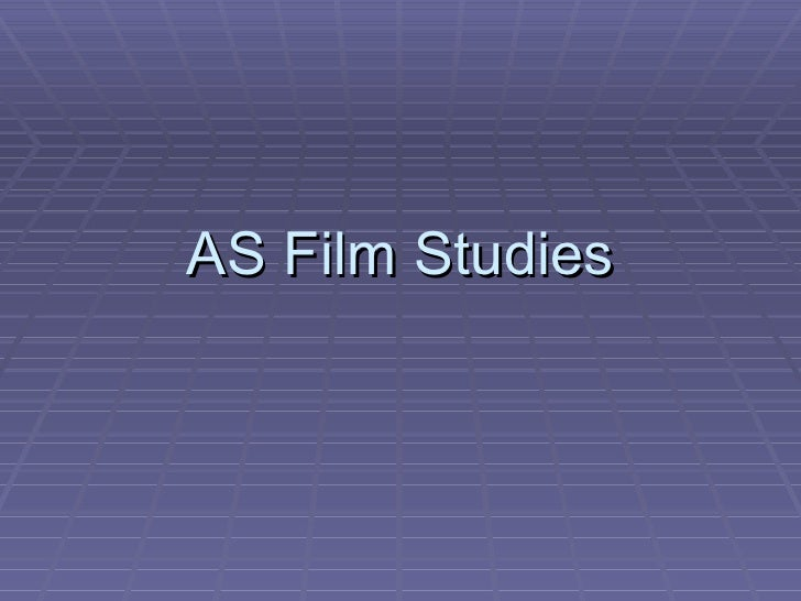 As film studies induction lesson