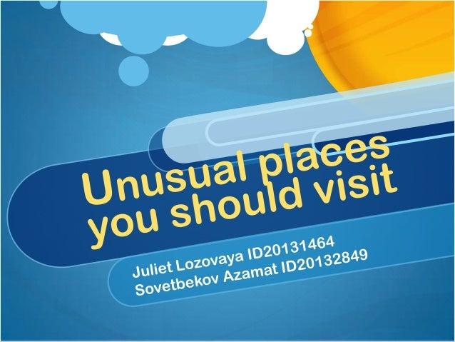 Places you must visit