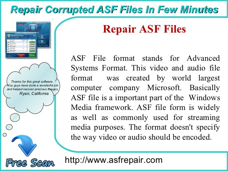 Recover lost ASF files in easy...
