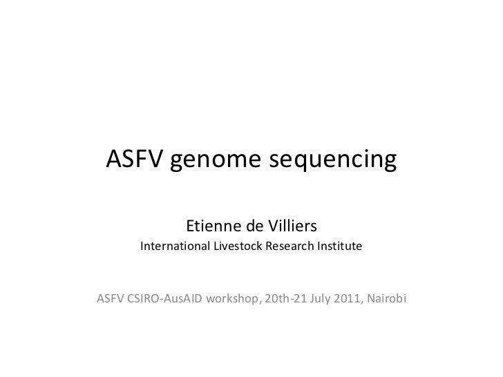 ASFV genome sequencing