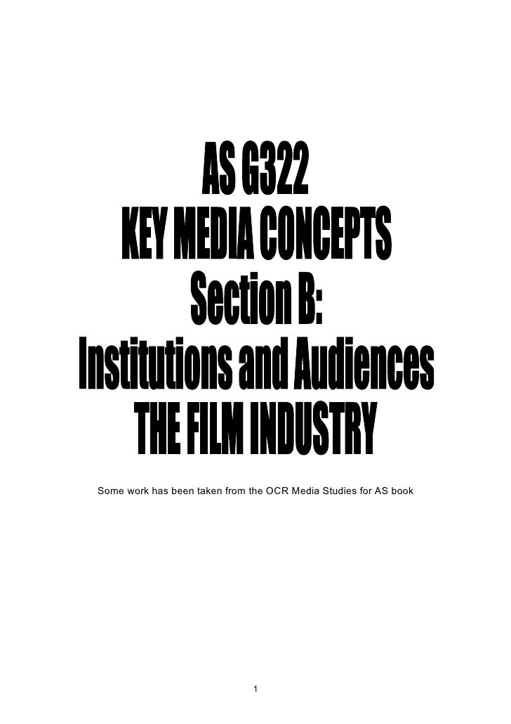 AS G322 revision booklet pt1 (Film Industry)