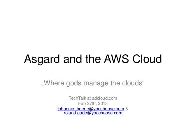 Asgard and the aws cloud
