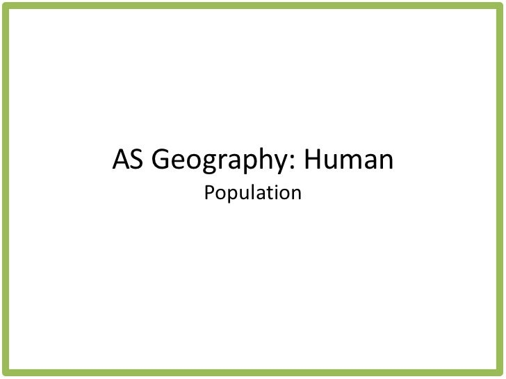 geography population case studies