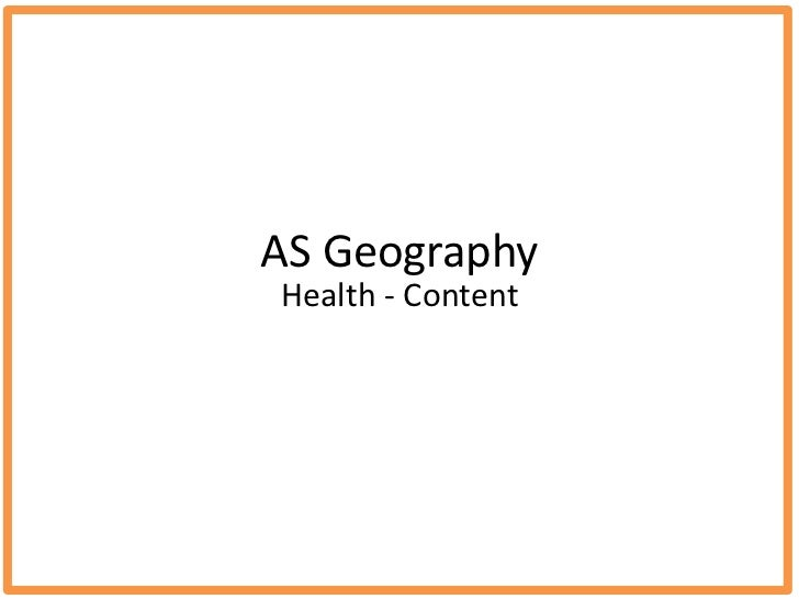 AS GeographyHealth - Content