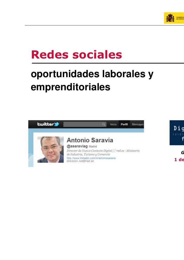 Redes socialesoportunidades laborales yemprenditoriales                                Going Local – Sevilla       direcci...