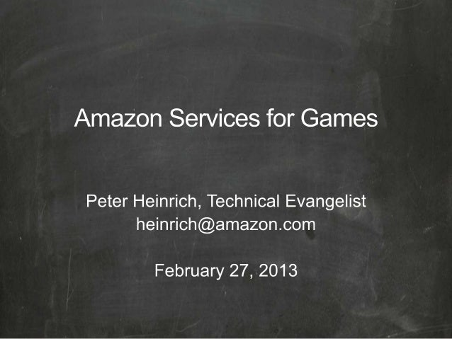 Amazon Services for Games, with Unity