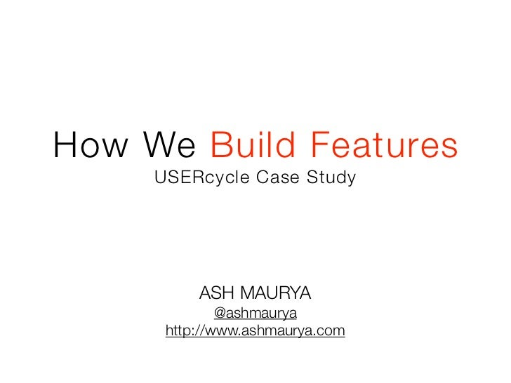 How We Build Features