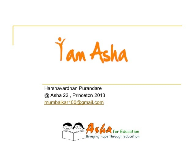 My Presentation at Asha 22 Conference