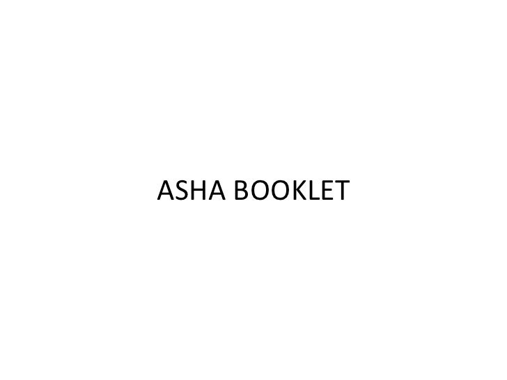 ASHA BOOKLET