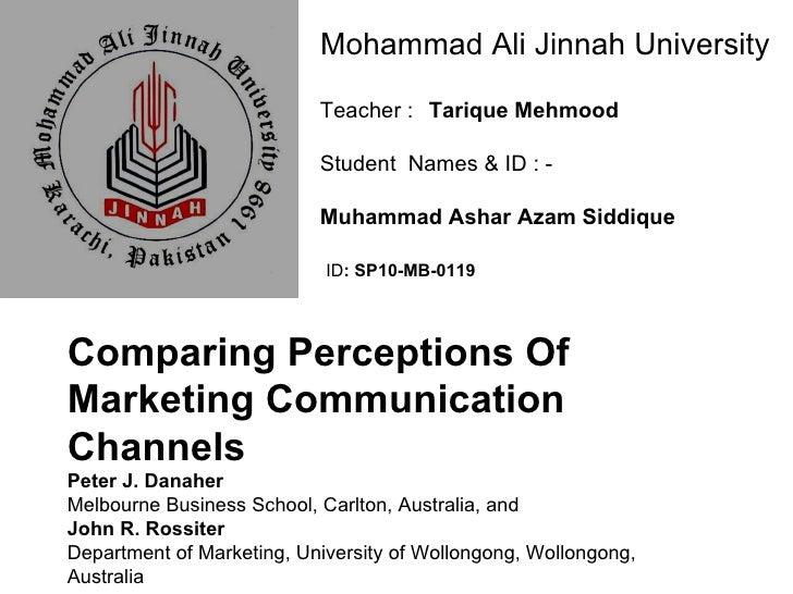 Mohammad Ali Jinnah University Teacher :  Tarique Mehmood Student  Names & ID : -  Muhammad Ashar Azam Siddique ID : SP1...