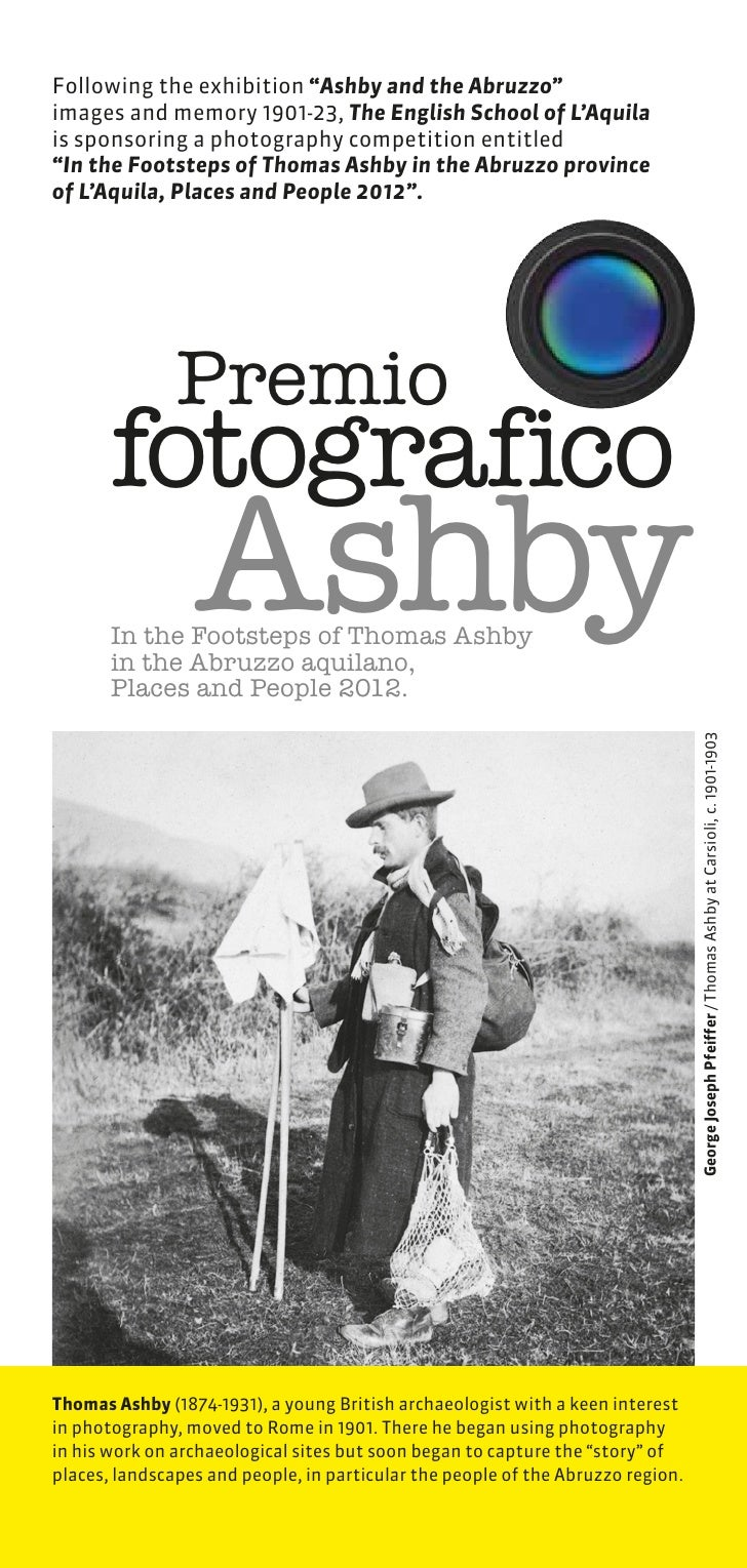 """Following the exhibition """"Ashby and the Abruzzo""""images and memory 1901-23, The English School of L'Aquilais sponsoring a p..."""