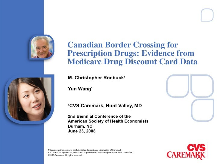 Canadian Border Crossing for Prescription Drugs