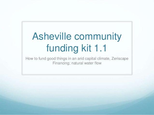 Asheville funding kit v 1.1
