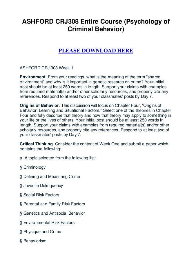 AJS 512 Week 1 Organizational Behavior Paper
