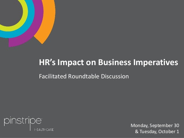 HR's Impact on Business Imperatives