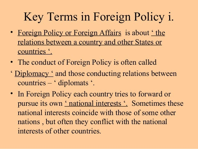 relationship between nigeria national interest and her foreign policy