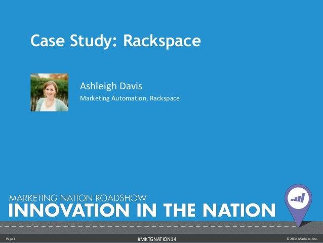 Case Study: Rackspace - Ashleigh Davis