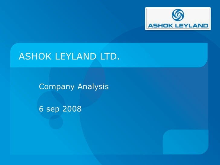 Ashok leyland valuation