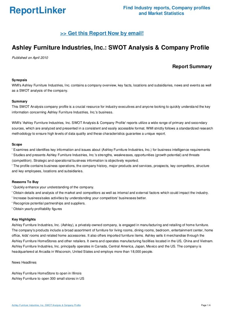 """ikea competitive analysis in the furniture industry 3 simple & beneficial competitive analysis strategies  that """"acme online  retailer"""" has very different competition in the furniture industry than it does in   let's take a look at another one of acme furniture's competitors, ikea."""